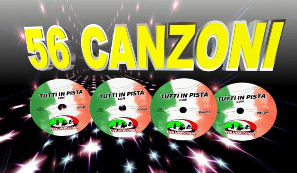 TUTTI IN PISTA ITALIANISSIMA 4 CD 56 BRANI